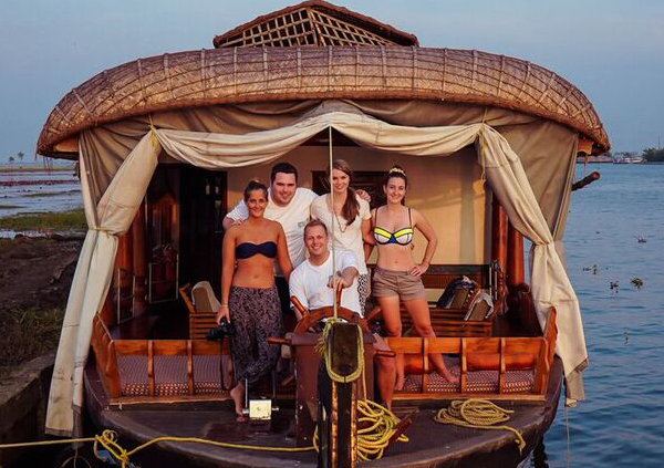 Life on a Kerala Houseboat Photo: #KeralaBlogExpress