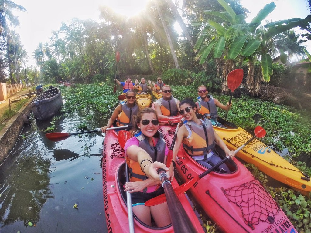Kerala Backwater Kayaking. Photo: Brittany Kulick